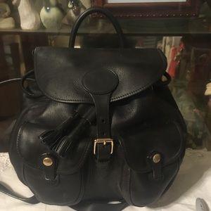 Vintage Dooney & Bourke Leather Backpack Bag